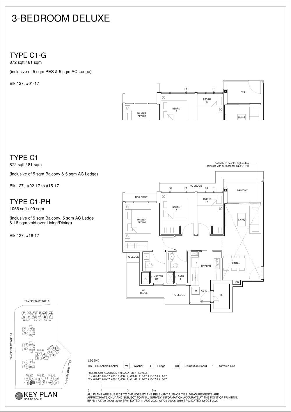 Parc Central Residences Floorplan 3Bedroom C1