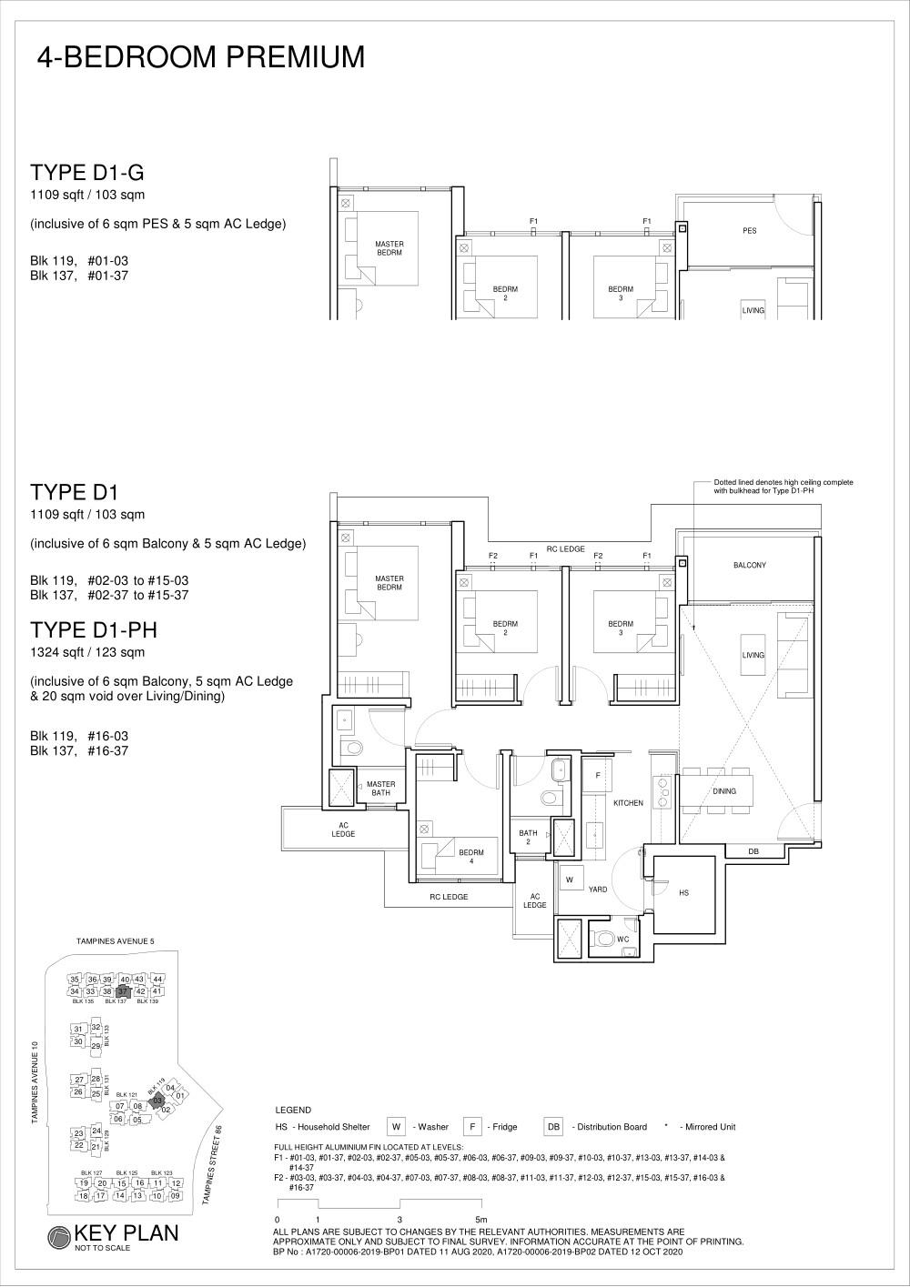 Parc Central Residences Floorplan 4Bedroom D1