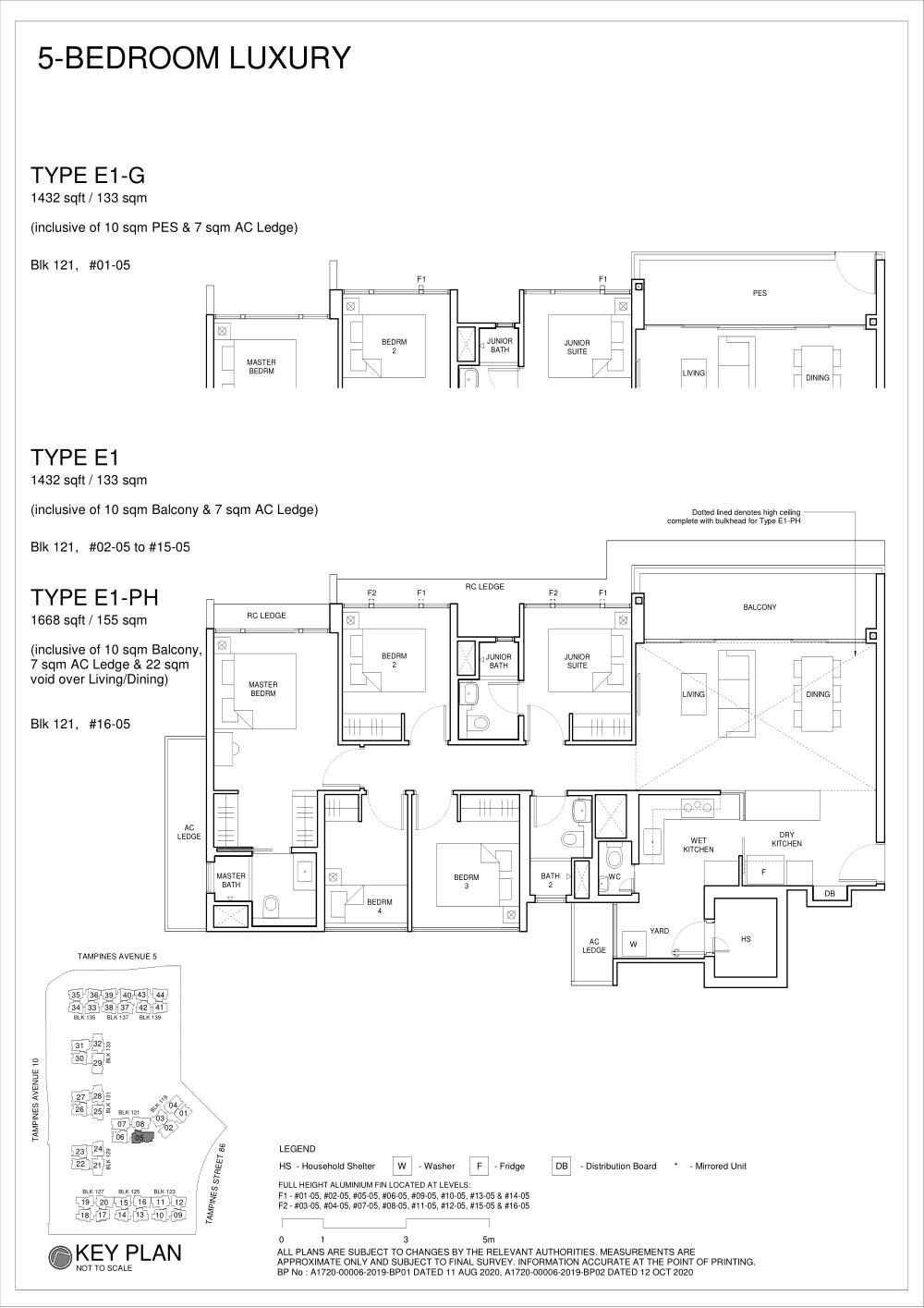 Parc Central Residences Floorplan 5Bedroom E1